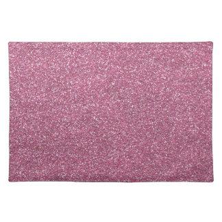 Glittery Shiny Pink Glitters Place Mat