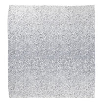 Glittery Silver Ombre Bandana