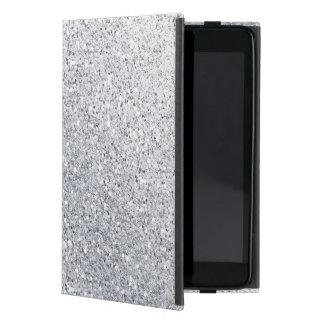 Glittery Silver Ombre iPad Mini Cover