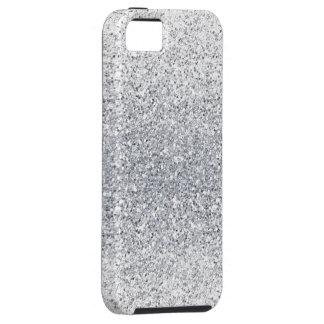 Glittery Silver Ombre iPhone SE/5/5s Case