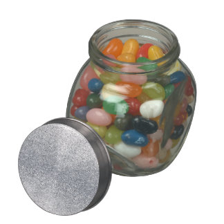 Glittery Silver Ombre Jelly Belly Candy Jars
