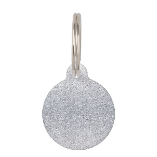 Glittery Silver Ombre Pet Name Tag