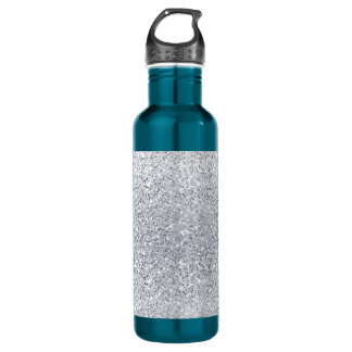 Glittery Silver Ombre Water Bottle