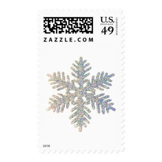 Glittery Snowflake Postage Stamp