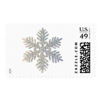 Glittery Snowflake Postage Stamps