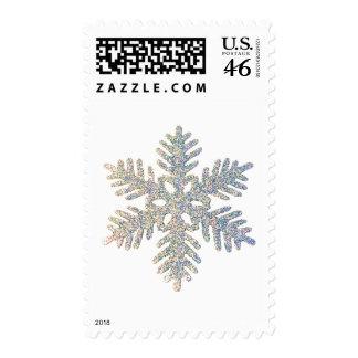 Glittery Snowflake Postage Stamp