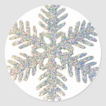 Glittery Snowflake Stickers