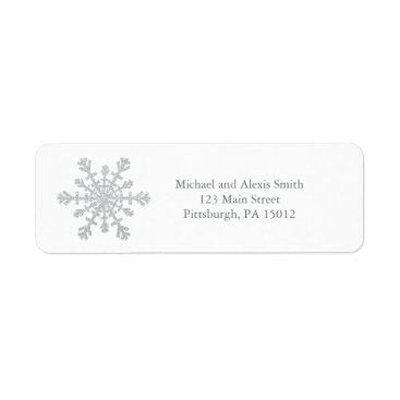 Christmas Themed Glittery Sparkle Silver Snowflake for Christmas Label