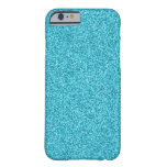Glittery Sparkle Turquoise Barely There iPhone 6 Case