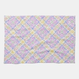 Glittery Spring Tartan Plaid Kitchen Towels