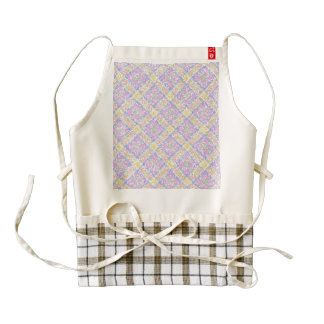 Glittery Spring Tartan Plaid Zazzle HEART Apron