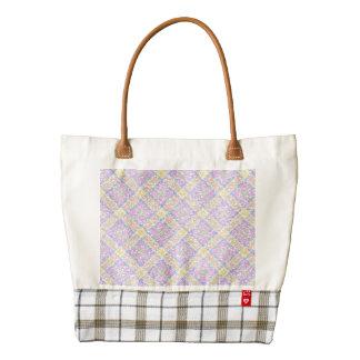Glittery Spring Tartan Plaid Zazzle HEART Tote Bag