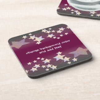 glittery star coasters