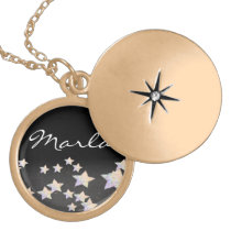glittery star  necklace