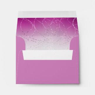 Glittery Star of David Pink Bat Mitzvah RSVP Envelope
