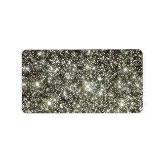 Glittery Stars Label