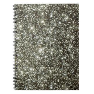 Glittery Stars Spiral Notebook