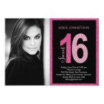 "Glittery Sweet 16 Birthday Party Invitations 5"" X 7"" Invitation Card"