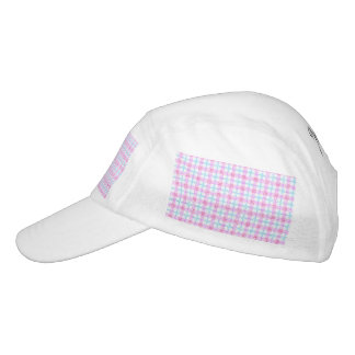 Glittery Tartan Plaid in Pink & Blue Headsweats Hat