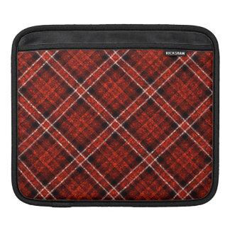Glittery Tartan Plaid in Red & Black iPad Sleeve