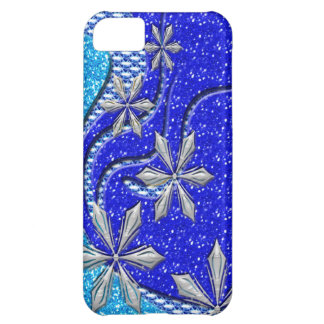 Glittery Winter Snowflake Flurry iPhone 5C Cases