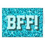 """Glitz """"BFF azules!"""" Tarjeta de felicitaciones del"""