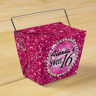 Glitz Bling Glitter Sparkle | fuchsia Favor Box