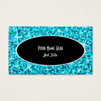 Glitz Blue Black Oval business card template