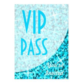 Glitz Blue curve VIP Pass invitation