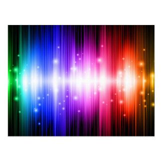 glitz colorido del encanto del arco iris de la div postal