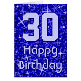 Glitz Dark Blue 'Age' 'Happy Birthday' card