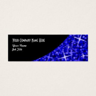 Glitz Dark Blue Black Curve business card skinny
