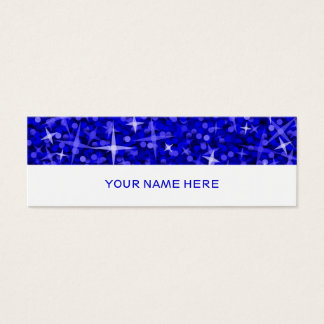 Glitz Dark Blue business card skinny white