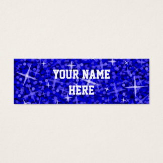 Glitz Dark Blue business card template skinny