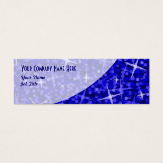 Glitz Dark Blue Curve business card skinny