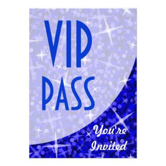 Glitz Dark Blue curve VIP Pass invitation
