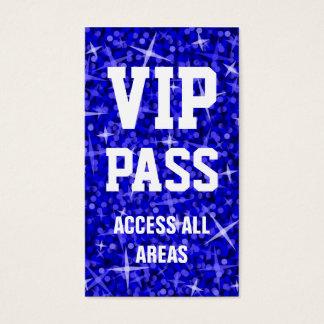 Glitz Dark Blue 'VIP PASS' business card