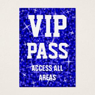 Glitz Dark Blue 'VIP PASS' business card chubby