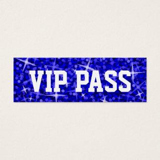 Glitz Dark Blue 'VIP PASS' business card skinny
