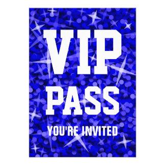 Glitz Dark Blue VIP PASS invitation