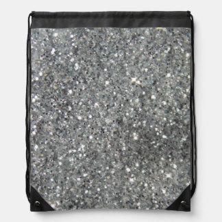 Glitz de plata elegante del brillo mochilas