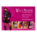 """Glitz Glam 2"" - Classy Chic Funky Fashion Stylist Business Card Template"