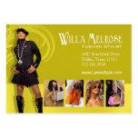 """Glitz Glam 2"" - Classy Chic Funky Fashion Stylist Business Card Templates"
