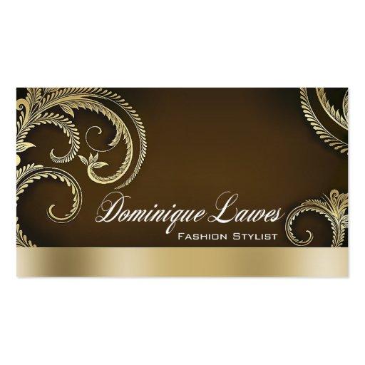 """Glitz Glam"" - Classy Chic Elegant Fashion Stylist Business Card Templates"