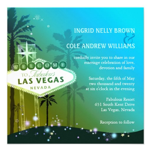 Glitz & Glam Las Vegas Wedding Invitations