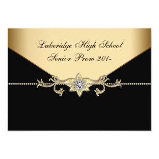 Glitz Glamour Black Tie Prom Card