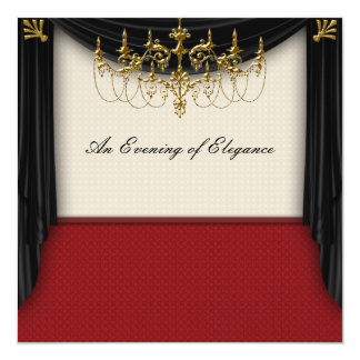 Glitz Glamour Black Tie Prom Invitations
