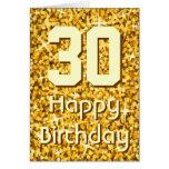 "Glitz ""Gold"" 'Age' 'Happy Birthday' greetings card"