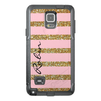 Glitz Gold and Pink Otterbox Samsung Note 4 Case