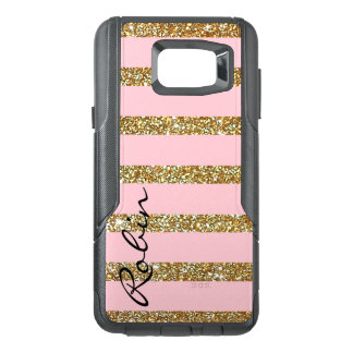 Glitz Gold and Pink Otterbox Samsung Note 5 Case
